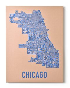 Chicago Tan/Blue Canvas, Front
