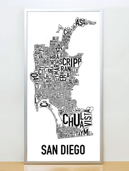 San Diego neighborhood map