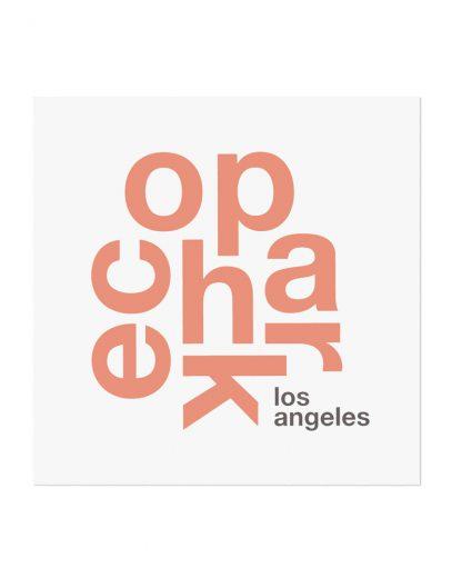 """Echo Park Fun With Type Mini Print, 8"""" x 8"""", White & Coral"""