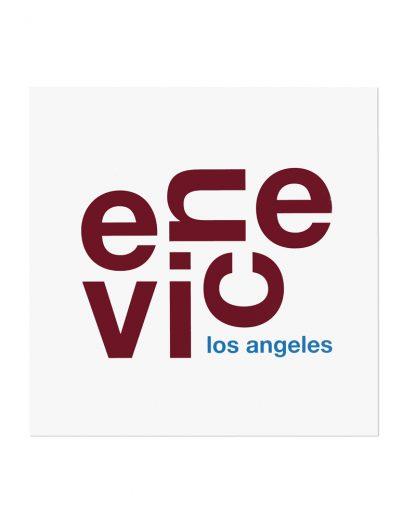 """Venice Fun With Type Mini Print, 8"""" x 8"""", White & Maroon"""
