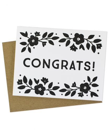 Floral Petunias Congrats Greeting Card by Hello Paper Co