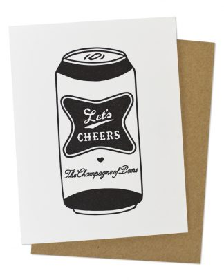 Let's Cheers Beer Can Congrats Greeting Card by Hello Paper Co