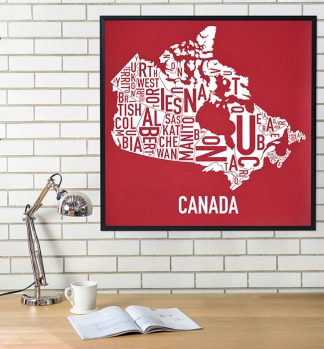 Canada Provinces Map Poster