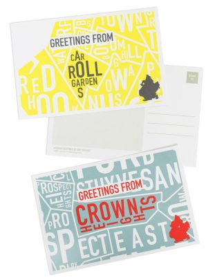 Greetings from Brooklyn Neighborhood Postcards, Pack of 8