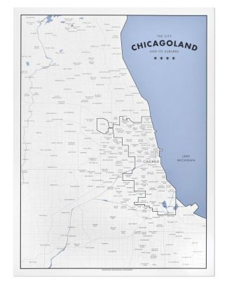 "Chicagoland Map Print by Ork Posters, 18"" x 24"""