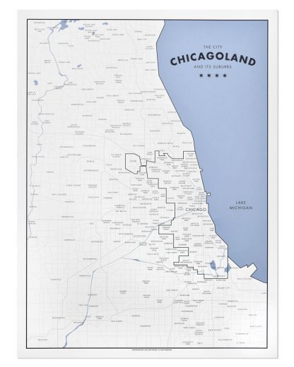 "Chicago Map Print by Ork Posters, 18"" x 24"""