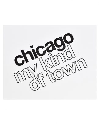 Chicago My Kind of Town Vintage-Inspired Letterpress Print, 8x10