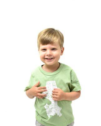 seattle kids tshirt with seattle neighborhood map