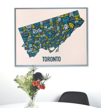Toronto Neighborhood Map Poster